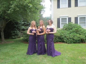 The bridesmaid dresses from another angle.